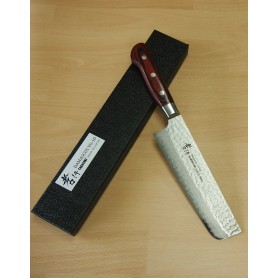 Faca japonesa nakiri SAKAI TAKAYUKI - aço VG10 damascus 33 camadas - 16cm