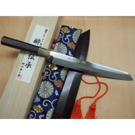 Faca japonesa yanagiba ponta kiritsuke SUISIN - Aço white steel no.1 acabamento espelhado - 27cm