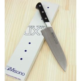 Cuchillo Japonés Santoku - MISONO - UX10 - Acero Sueco - Tam: 18cm