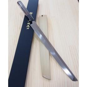 Faca japonesa sakimaru takobiki SUISIN Honyaki blue steel 2 - tam:30cm