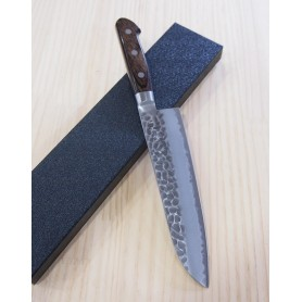 Cuchillo Japonés Santoku - HOKIYAMA - Serie Tosa-Ichi Bright - Super Blue Steel - Tam: 18cm