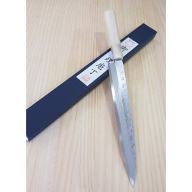Cuchillo Japonés Yanagiba - MIURA - Serie Bessaku - Blue Steel Damasco - Tam: 24 / 27cm