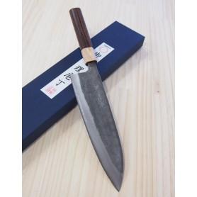 Faca japonesa do chef gyuto MIURA -Série blue steel nashiji- Tam:21/24cm