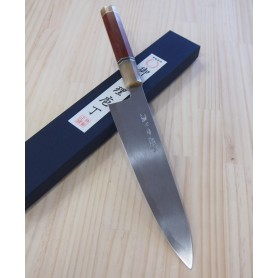 Faca japonesa do chef gyuto MIURA -Série Carbon white 2 customizado- Tam:24cm