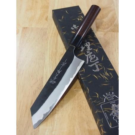 Faca japonesa bunka YOSHIMI KATO Série Aogami super black finish Tam:17cm