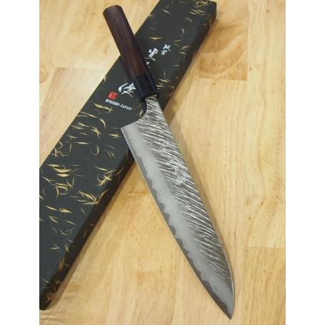 Cuchillo Japonés Chef Gyuto - YU KUROSAKI - Serie Fujin VG-10 - Tam: 24cm