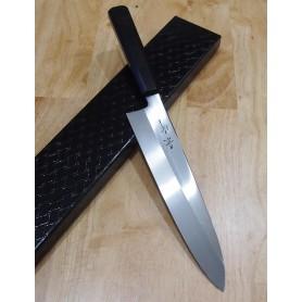 faca japonesa do chef gyuto KAGEKIYO White 2 Mizu Honyaki com shinogi Tam:24cm