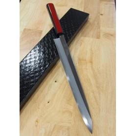 Cuchillo Japonés Yanagiba - KAGEKIYO - Serie Urushi Akaro - White Steel No.1 - Tam: 30cm