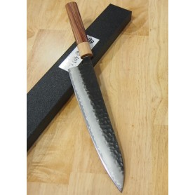 Faca japonesa do chef gyuto MIURA Aogami super black finished Tam:21/24cm