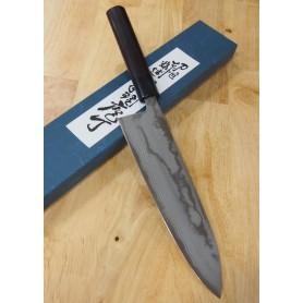 Faca japonesa do chef gyuto MIURA Série ginryu Carbono Blue steel 2 damascus Tam:21cm