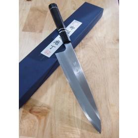 Faca japonesa do chef gyuto para destro MIURA -Série Itadaki - Ebonywood- Tam:24cm